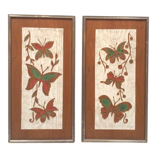 Turner Mid-Century Butterfly Wall Hangings-A Pair