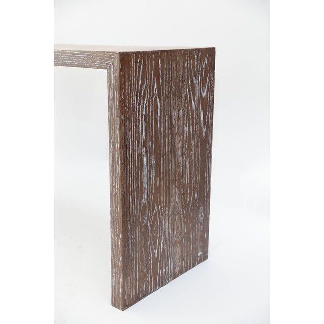 Mid-Century Cerused Oak Console For Sale - Image 11 of 13