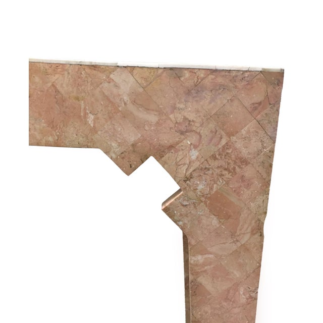 Mid-Century Modern Maitland Smith Pink Tessellated Stone Console Table For Sale - Image 3 of 7
