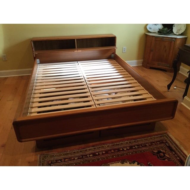 Teak Queen Bed Frame - Image 6 of 11
