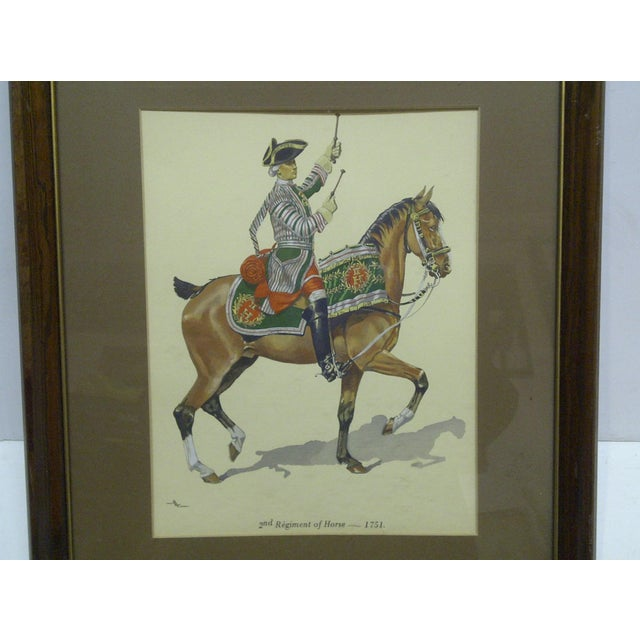 "This is a Framed and Matted Color Print that is titled ""2nd Regiment Of Horse - 1751"" - The Artist is Unknown."