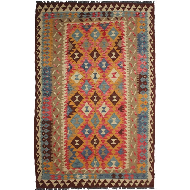 "Aara Rug Inc. Hand-Knotted Kilim - 8'4"" X 5'4"" For Sale"
