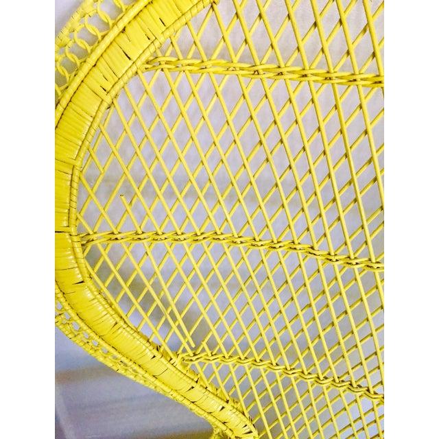 Mid-Century Rattan Wicker Fan-Back Peacock Chair - Image 7 of 9