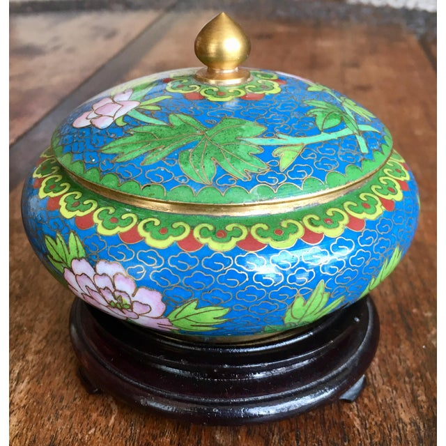 1970s Chinese Cloisonne Trinket Box For Sale - Image 13 of 13