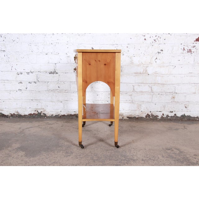 Baker Furniture Neoclassical Burl Wood Entry Table For Sale - Image 10 of 13