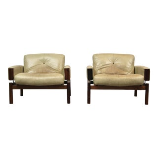 1970s Percival Lafer Floating Lounge Chairs-a Pair For Sale