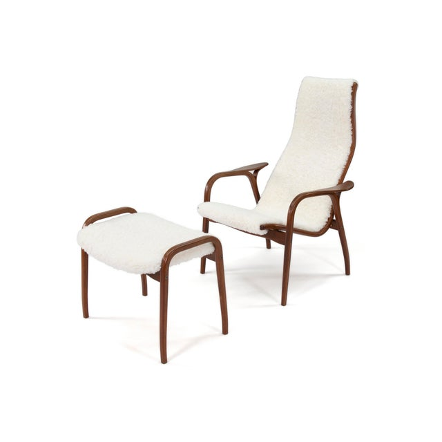 Vintage Yngve Ekstrom for Swedese Lamino Chair and Ottoman For Sale - Image 13 of 13