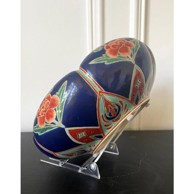 Japanese Ceramic Glazed Bowl Makuzu Kozan Meiji Period For Sale - Image 12 of 13