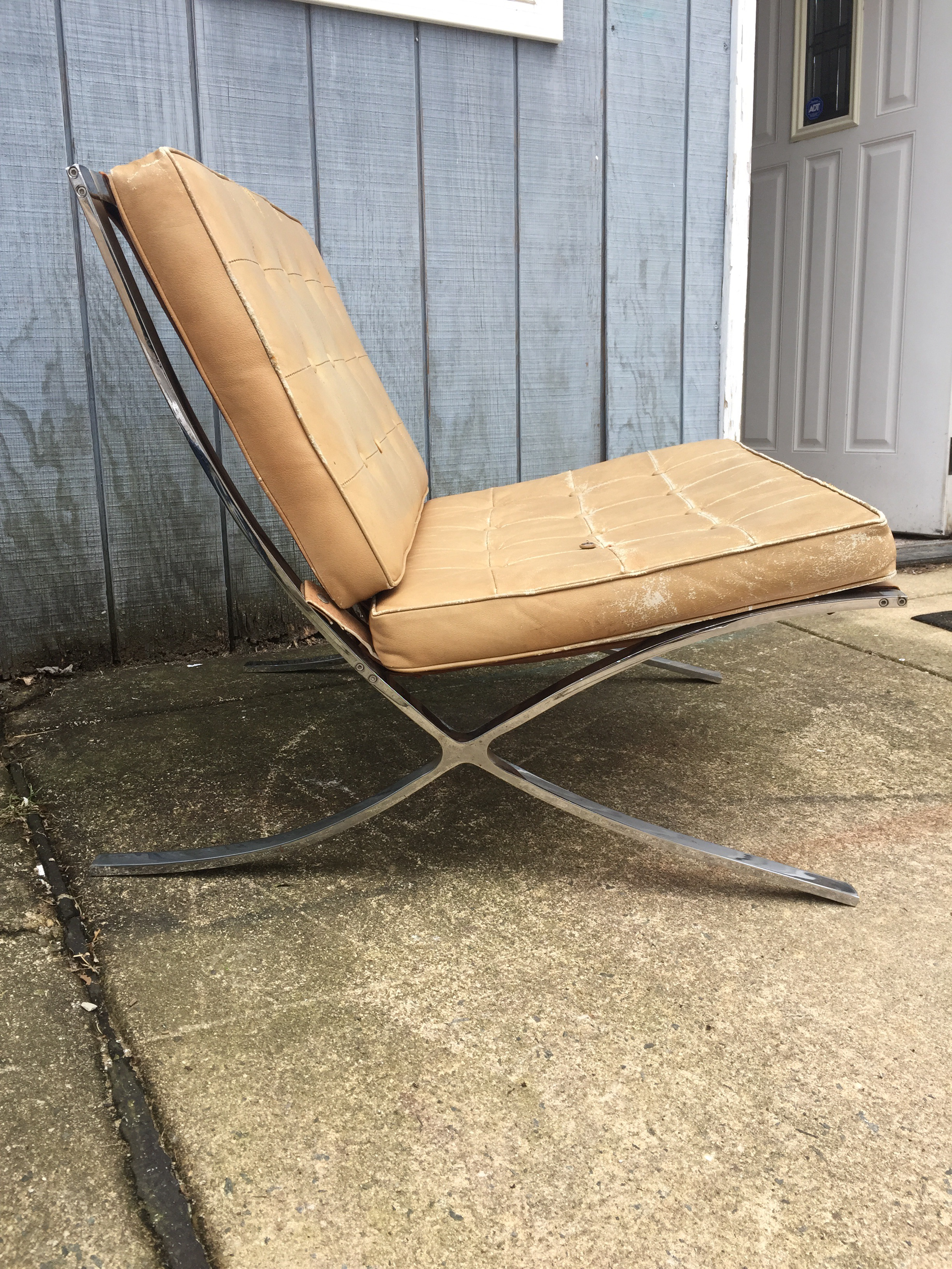 This Listing Is For A Mid Century Industria Argentina Barcelona Style  Chrome And Leather Chair.