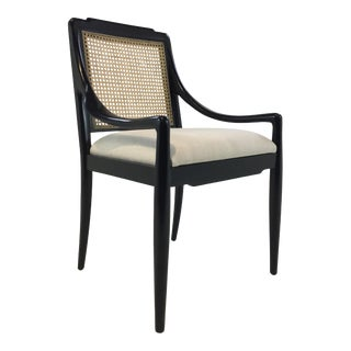Bungalow 5 Modern Caned Black Veronika Arm Chair For Sale