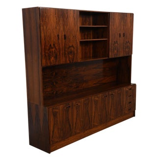 Extraordinary Danish Modern Bi-Level Media / Storage & Display Cabinet in Rosewood