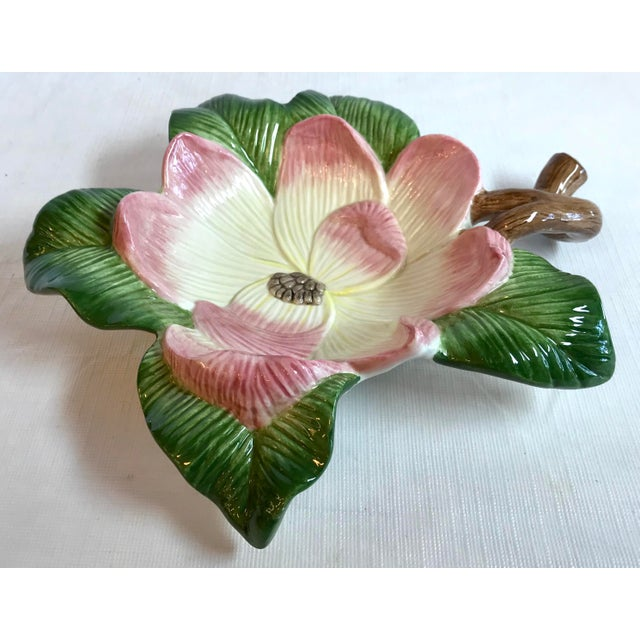Vintage Fitz and Floyd Figural Blossom Bowl For Sale - Image 4 of 7