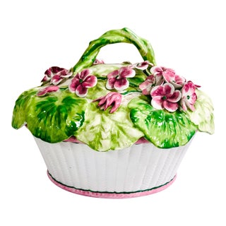 Italian Floral Begonia Tureen For Sale