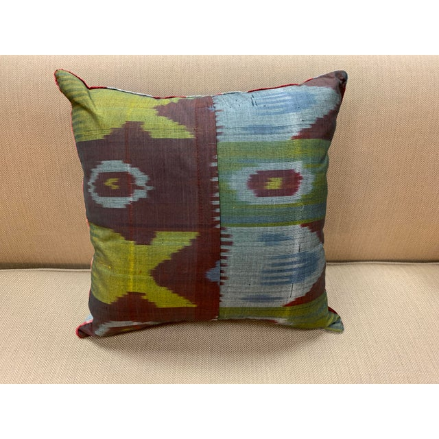 Contemporary Handwoven Cotton Velvet Pillow For Sale - Image 4 of 9