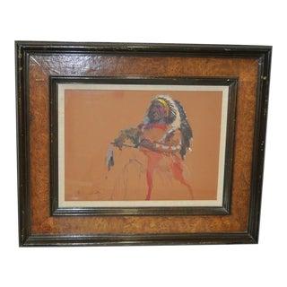 "Donald ""Putt"" Putman ""Indian Chief"" Original Painting For Sale"