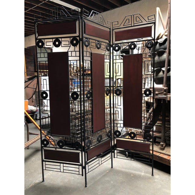 Asian 1980s Vintage Asian-Inspired Decorative Room Divider For Sale - Image 3 of 11