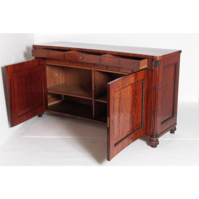 Early 19th Century Regency Bookmatched Crotch Mahogany Cabinet For Sale In Dallas - Image 6 of 13