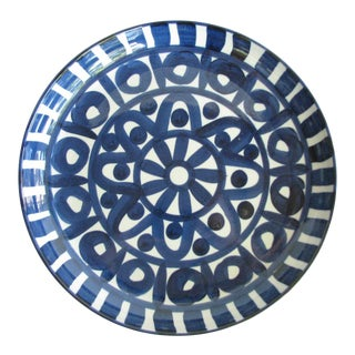 1990s Dansk Arabesque Stoneware Large Deep Platter Made in Japan For Sale