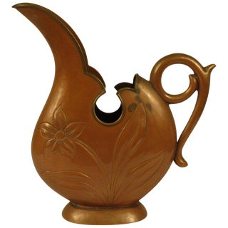 1920s Art Nouveau Copper Pitcher For Sale