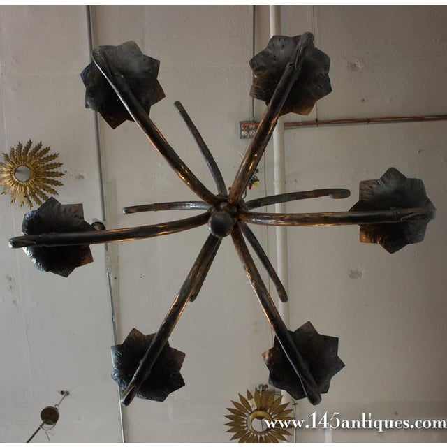 Spanish Wrought Iron Chandelier For Sale - Image 10 of 11