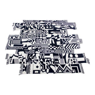 Large Dramatic Danish Modern Hand-Woven Wall Hanging or Rug For Sale