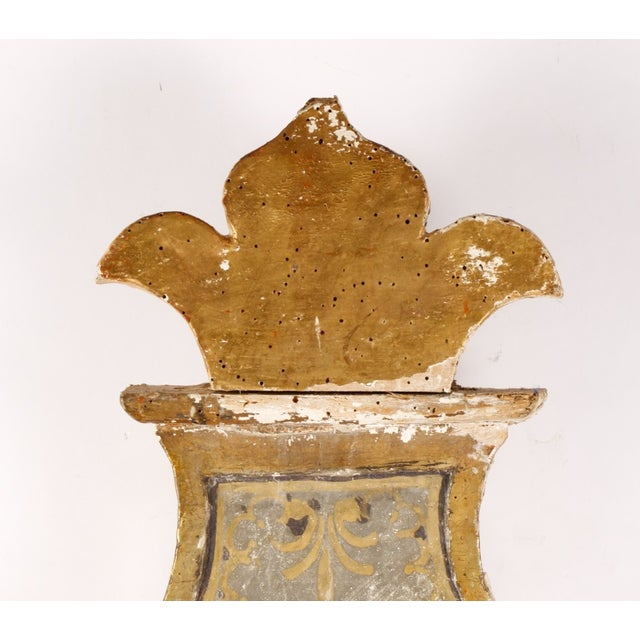 19th Century Gilt & Paint Decorated Wood Sign - Image 3 of 7