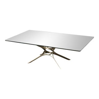 Roger Sprunger Bronze and Glass Low Table, by Dunbar For Sale