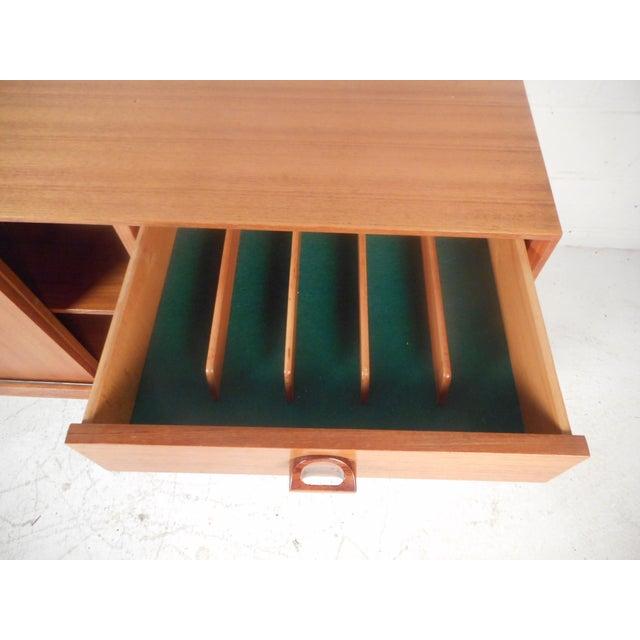Rosewood Gorgeous Midcentury Italian Teak Credenza For Sale - Image 7 of 13