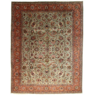 Persian Tabriz Rug - 9′8″ × 12′5″ For Sale