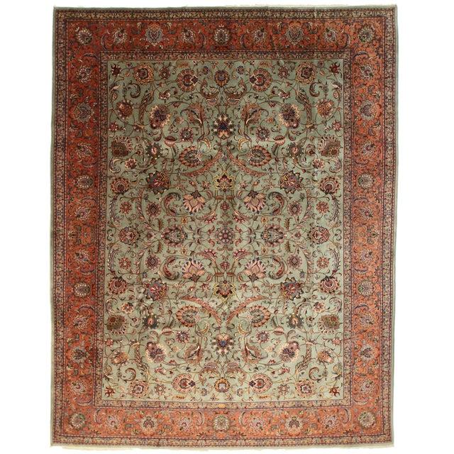 Persian Tabriz Rug - 9′8″ × 12′5″ For Sale