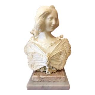 19th Century Filli Pugi Alabastor Woman Bust Sculpture For Sale