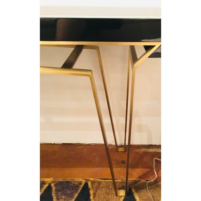 2020s Caracole Signature Classically Modern Black and Gold Moderniste Console Table For Sale - Image 5 of 7