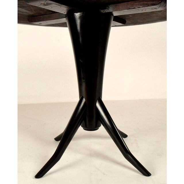 Vintage Laquered Round Mirrored Top Dining Table For Sale - Image 9 of 9