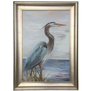"""""""The Heron"""" Oil Painting by Brunell For Sale"""