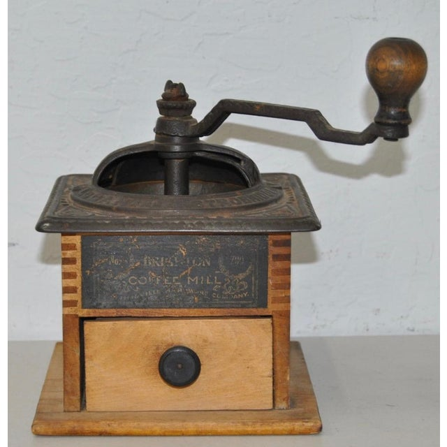 Antique Cast Iron & Wooden Coffee Mill - Image 2 of 5