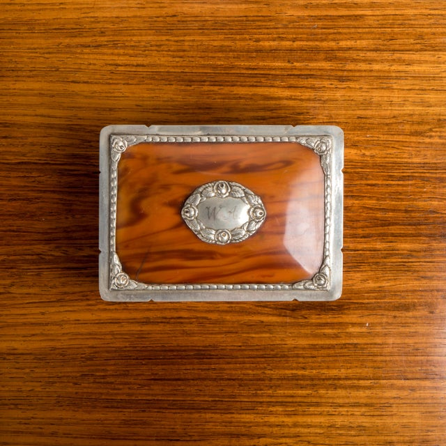 1940s Danish Modern Jewelry Box With Balled Feet For Sale In New York - Image 6 of 8
