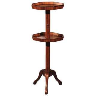 Late 19th Century Adjustable French Wooden Dumb Waiter/Pedestal Stand