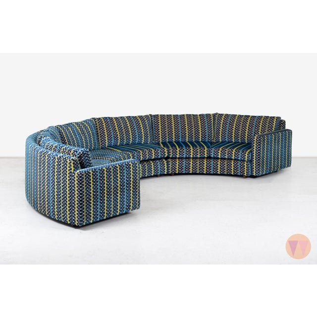 Thayer Coggin Milo Baughman Curved Sectional Sofa For Sale - Image 4 of 12