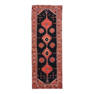 Antique Persian Hamadan Runner with Modern Tribal Style For Sale