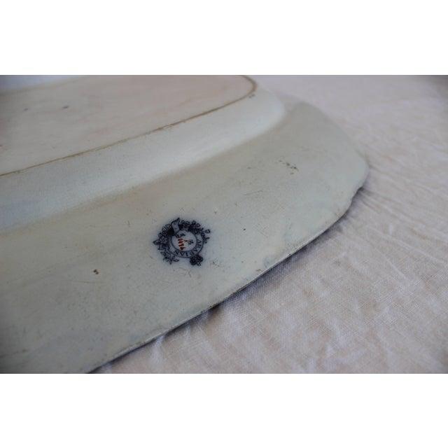 Large Arabian Pattern Staffordshire Platter For Sale - Image 4 of 7