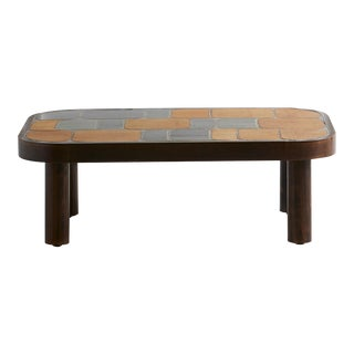 French Ceramic Tile Table For Sale