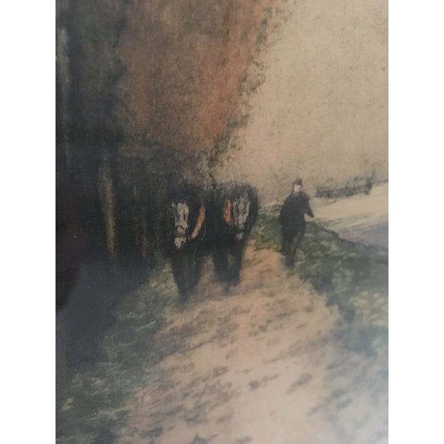 """Canal en Automne (France)"" Signed Henri Jourdain Color Etching For Sale - Image 11 of 13"
