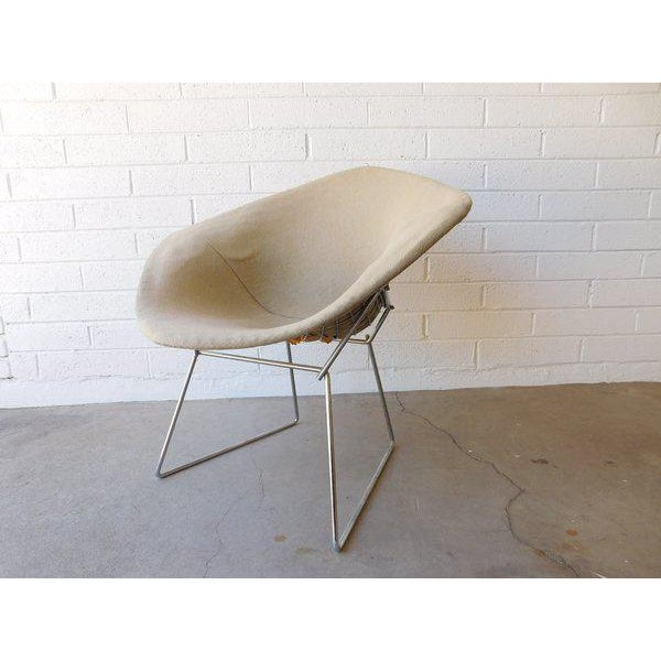 Original Bertoia Diamond Wire Chair in Chrome by Knoll - Image 2 of 9