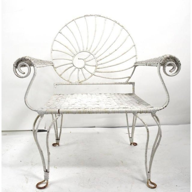 Nautilus Shell Back Arm Lounge Chair For Sale - Image 9 of 12