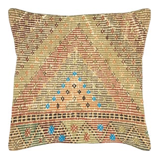 "Nalbandian - 1960s Turkish Cicim Pillow - 23"" X 23"" For Sale"