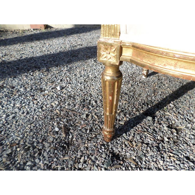 Louis XVI Style Giltwood Settee For Sale - Image 11 of 13