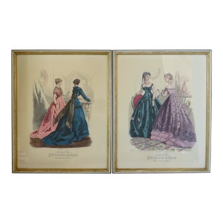 Victorian Fashion Prints, Set of 2 For Sale