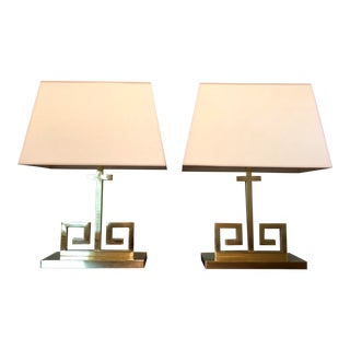 Transitional Visual Comfort Alexa Hampton Kate Polished Brass Table Lamp - a Pair