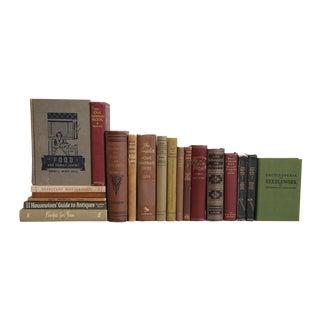 Vintage Home Life Collection - Set of Twenty Decorative Books For Sale
