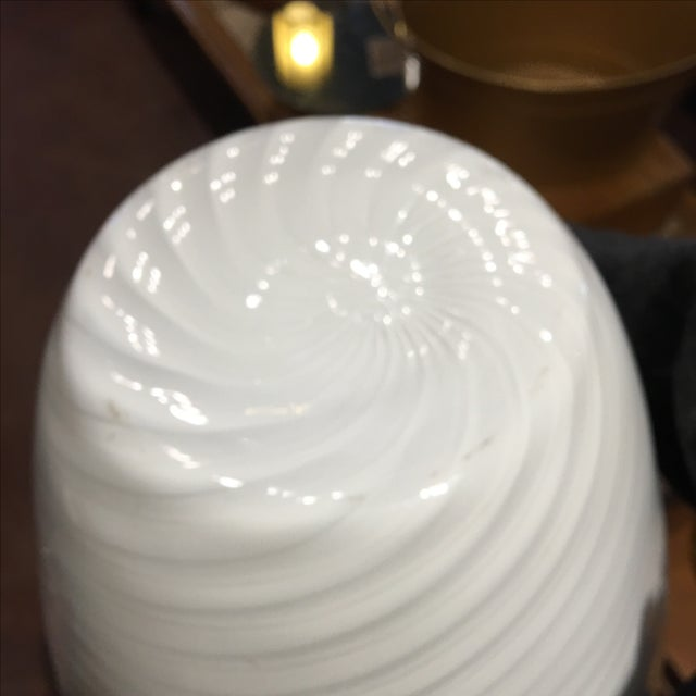 1960's Italian Glass Vase For Sale - Image 5 of 5